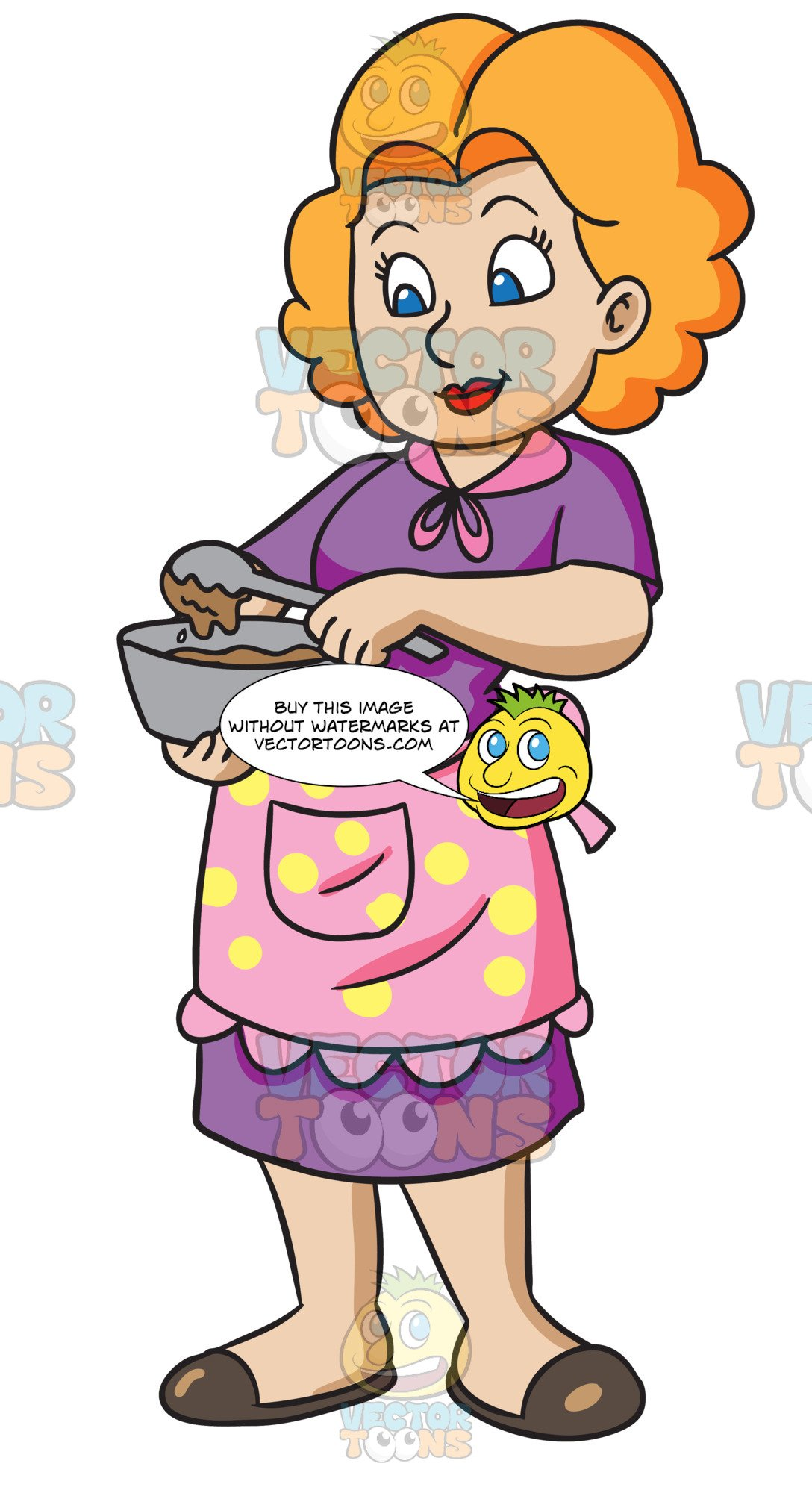 A Woman Making A Cake Batter.