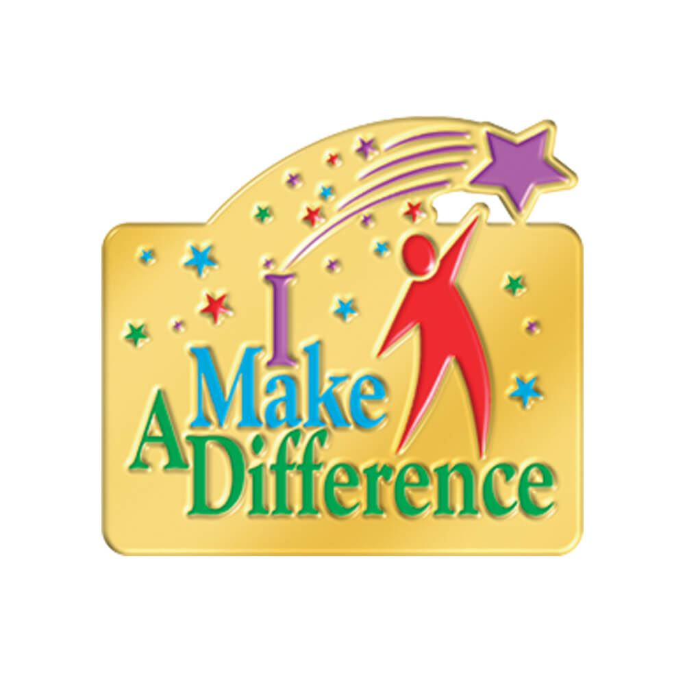 I Make A Difference Lapel Pin.