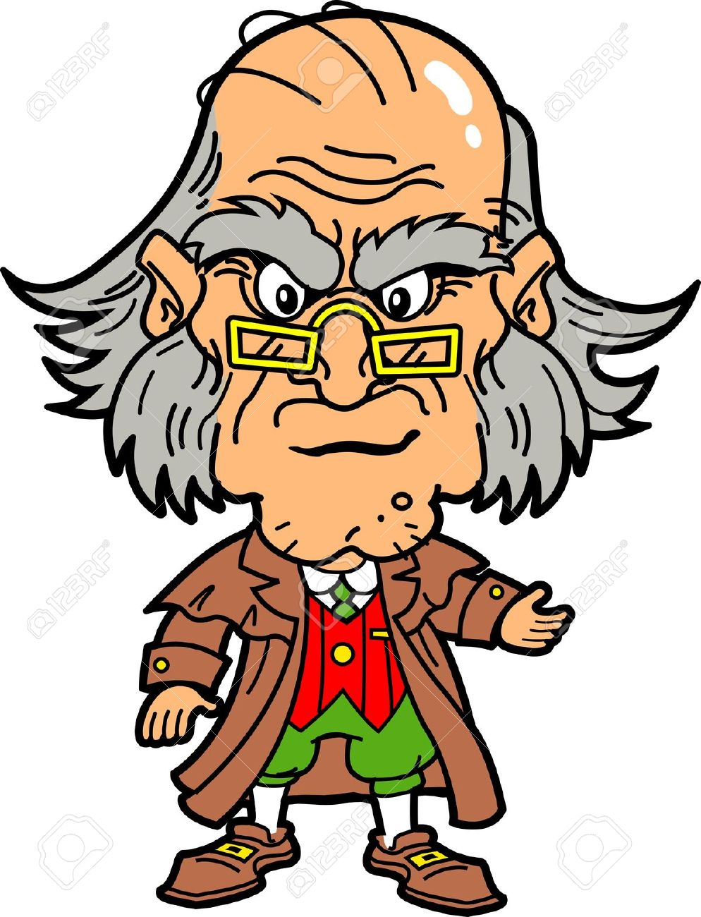 Ebenezer Scrooge Making An Angry Face At Christmas Royalty Free.