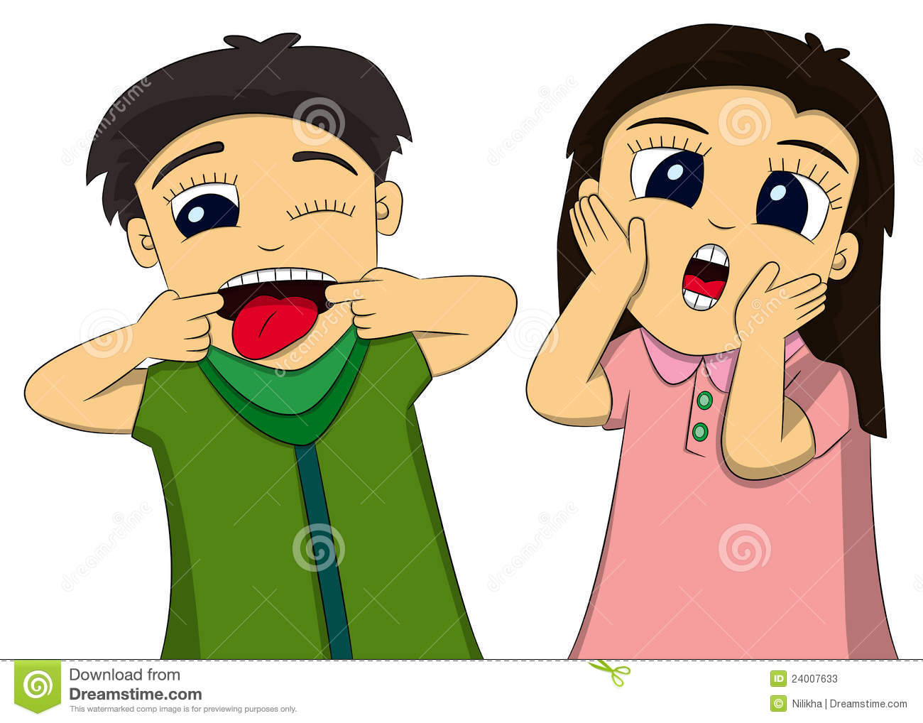 Kids funny face clipart.