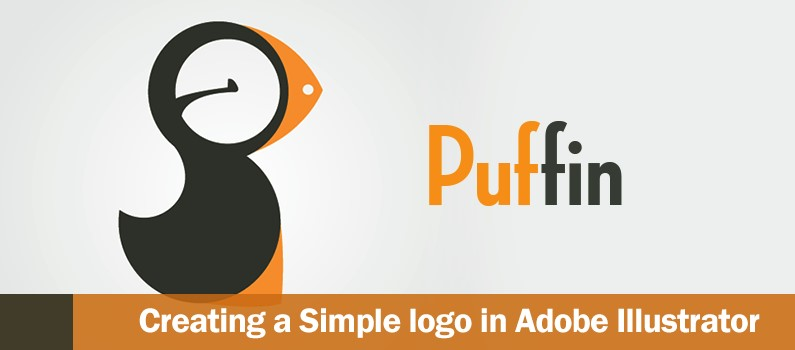 How to Create a Cool and Simple Puffin logo using Adobe.