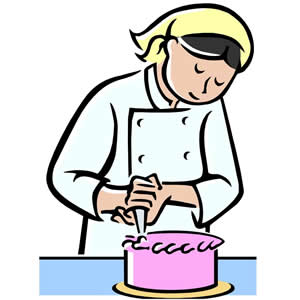 Clipart making a cake.