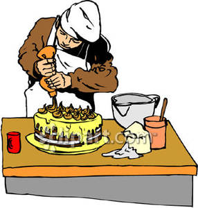 Icing a Cake.