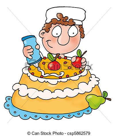 Pastry making Clipart and Stock Illustrations. 462 Pastry making.