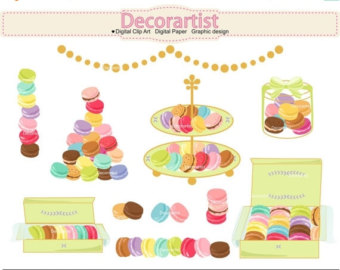 Afternoon Tea Clipart Set.