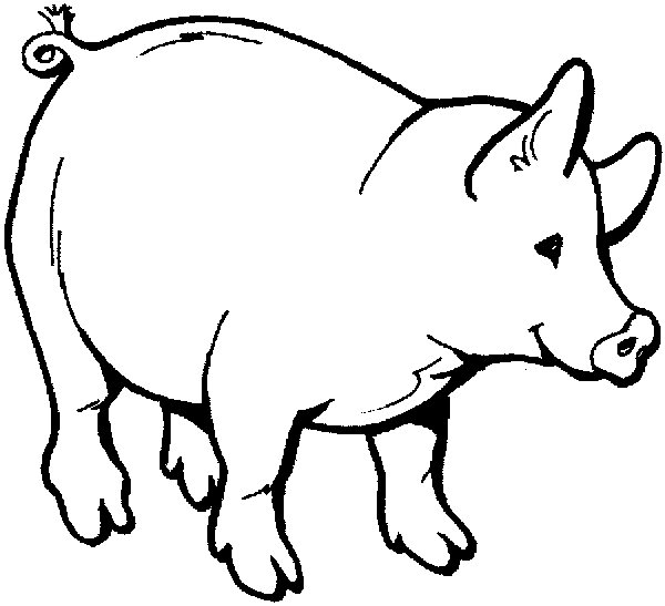 a pig with a goose on it's back clipart.