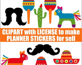 50% OFF SALE Numbers clipart for making printable planner.
