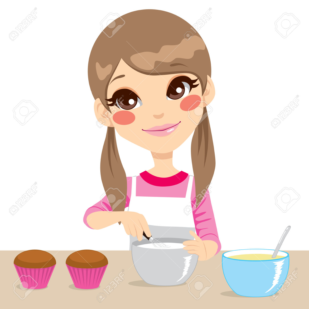 Download Free png Young Girl Making Coffee Clipart & Clip.