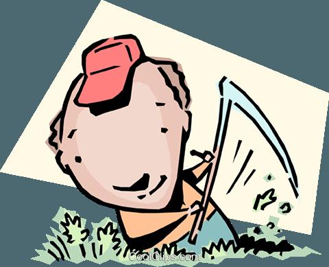 Making hay Royalty Free Vector Clip Art illustration.