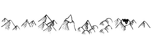 Hills and Mountains Clipart.