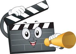 Movie making clipart.