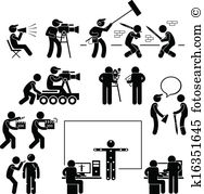 Making movies Clip Art Illustrations. 314 making movies clipart.