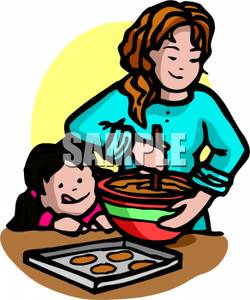 Making Cookies Clipart.