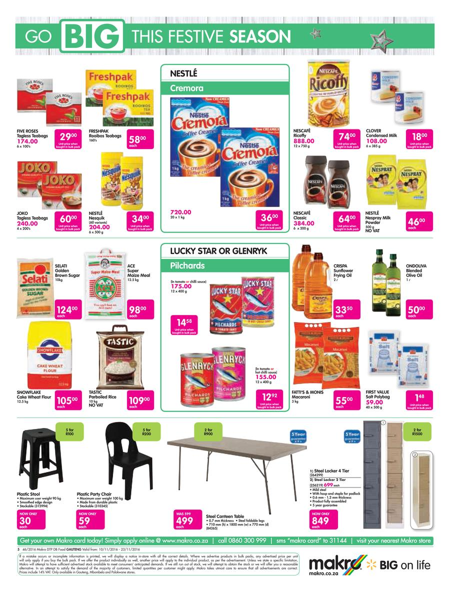 Makro : Food Catalogues.