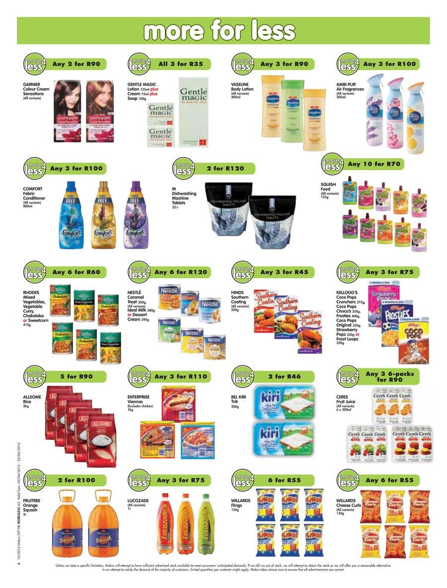 Makro : More4Less Food Catalogues.
