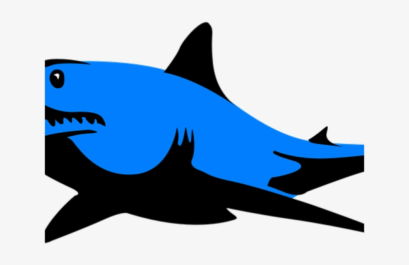 Mako Shark Clipart Silhouette Blue.