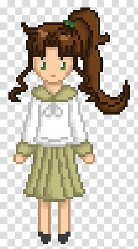 Kino Makoto Pixel Art transparent background PNG clipart.