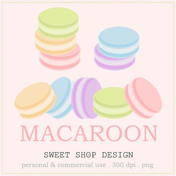 Macaron Food Clip Art, Baking or Bakery Clip Art, Royalty Free.