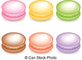 Macarons Clip Art and Stock Illustrations. 195 Macarons EPS.