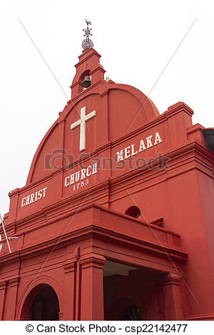 Picture of Christ Church Melaka, Malacca, Malaysia at early.