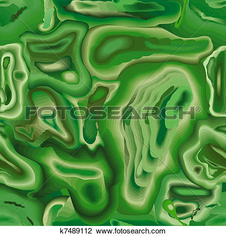 Clip Art of Structure of a mineral malachite seamless pattern.