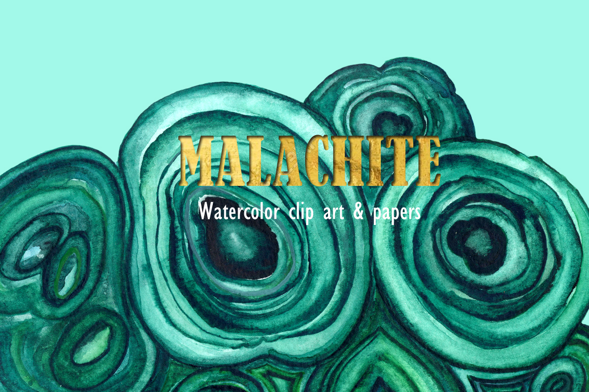 Malachite clip art & textures by LABFcreations.