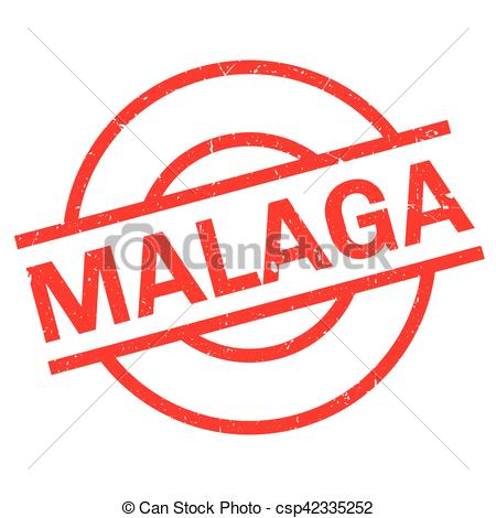 Clipart Vector of Malaga rubber stamp. Grunge design with dust.