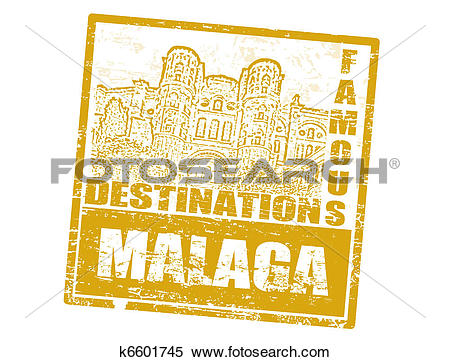 Clipart of Malaga stamp k6601745.
