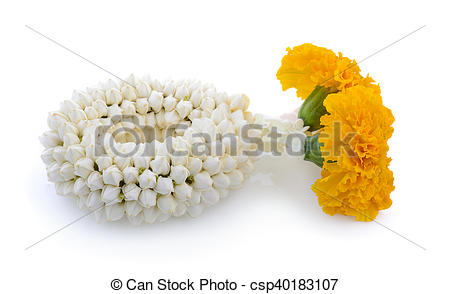 Stock Photography of Malai The flower in Thai Tradition Style.