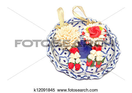 Stock Image of Malai The flower in Thai Tradition k12091845.