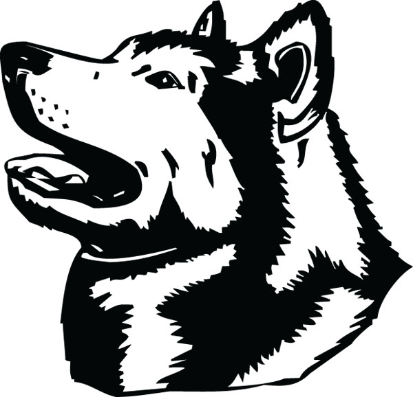 Malamute Head Dog Breed Clip Art For Custom Pet Lovers Gifts.