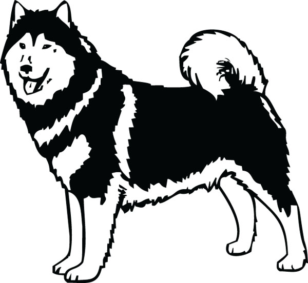Malamute Dog Breed Clip Art For Custom Pet Lovers Gifts.