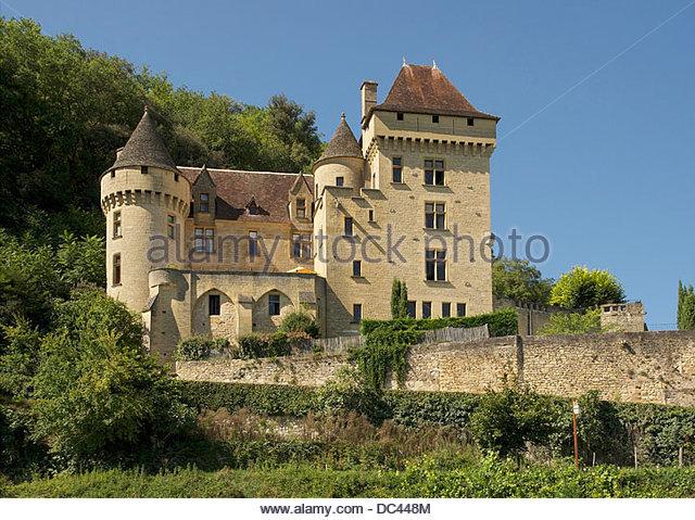Castle Of Vezac France Stock Photos & Castle Of Vezac France Stock.