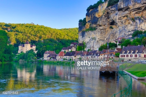 France Dordogne Region La Roque Gageac Dordogne Riever Malartie.