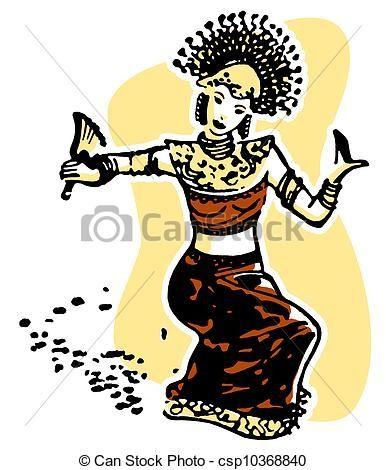 Malay Dance Clipart.