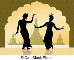 Clip Art of Indonesian dance.