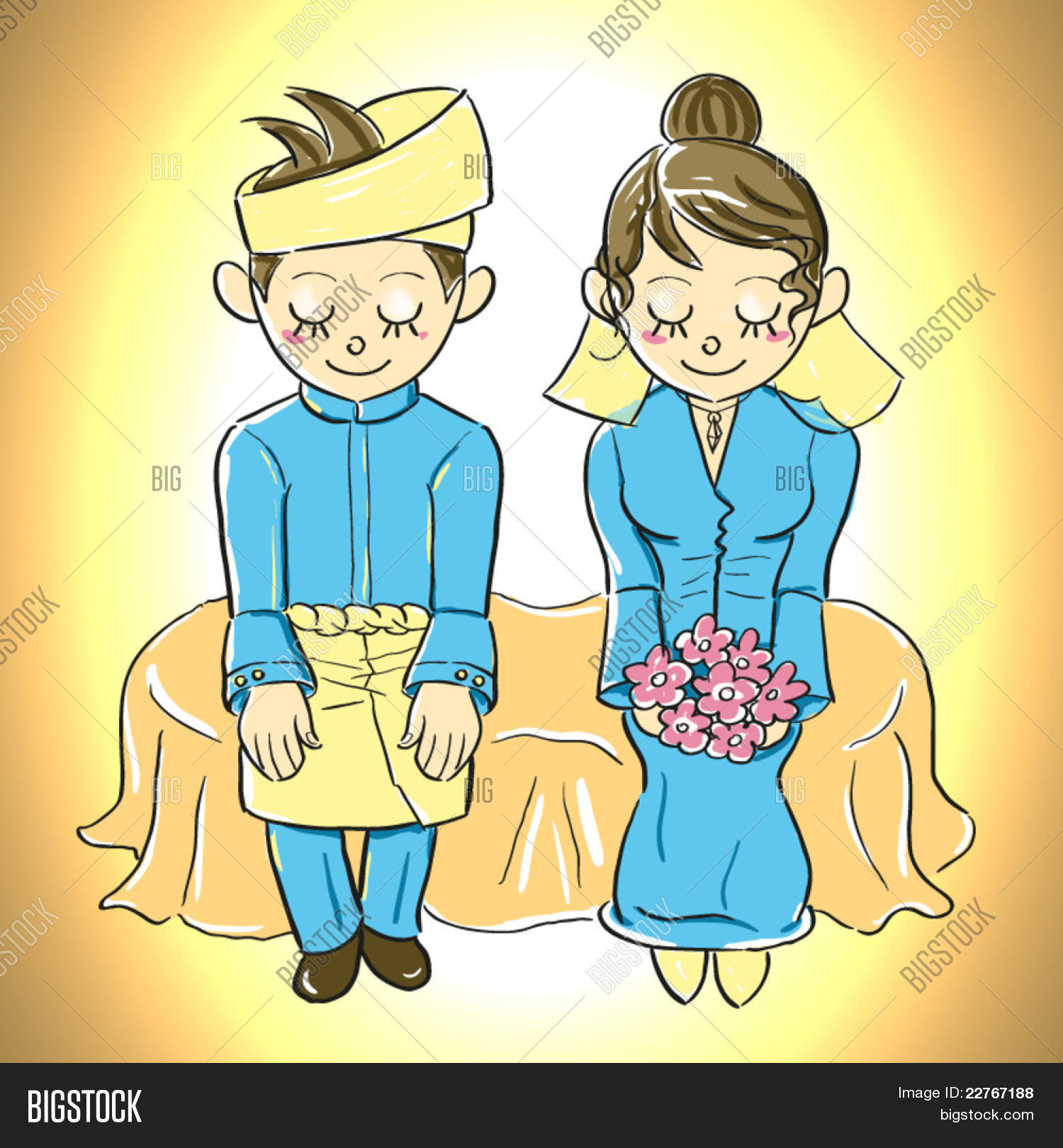 Malay Wedding Clipart.