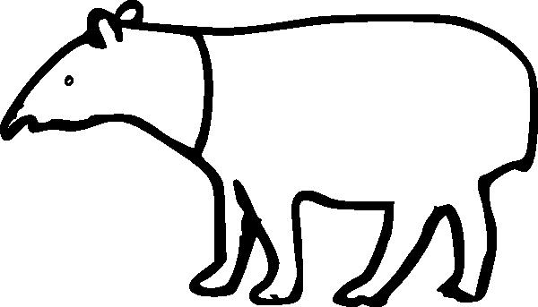Rumpeltux Malayan Tapir clip art Free Vector / 4Vector.