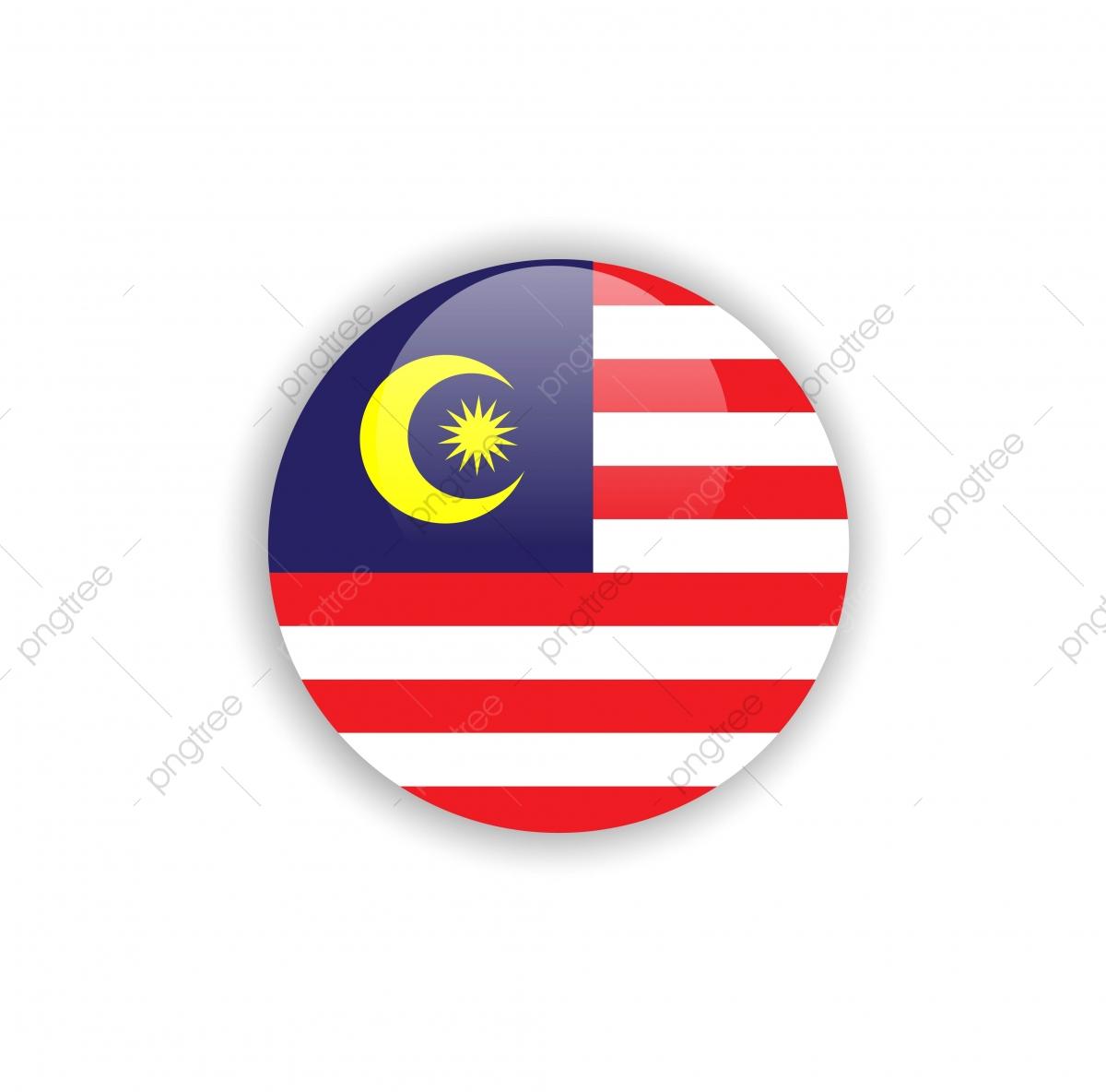 Button Malaysia Flag Vector Template Design, Malaysia, Flag.