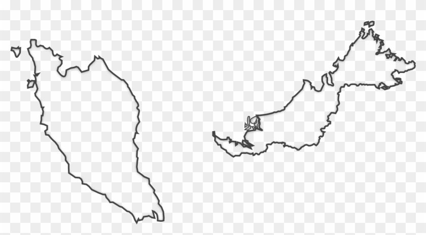 Malaysia Map Outline Png.