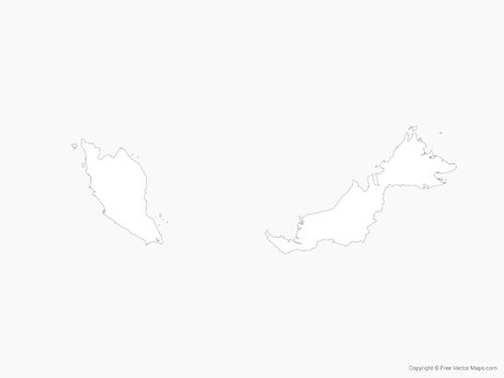 Vector Maps of Malaysia.