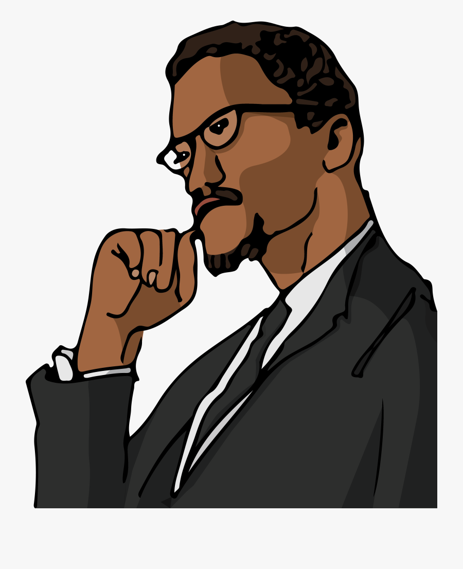 Malcolm X Drawing Cartoon , Free Transparent Clipart.