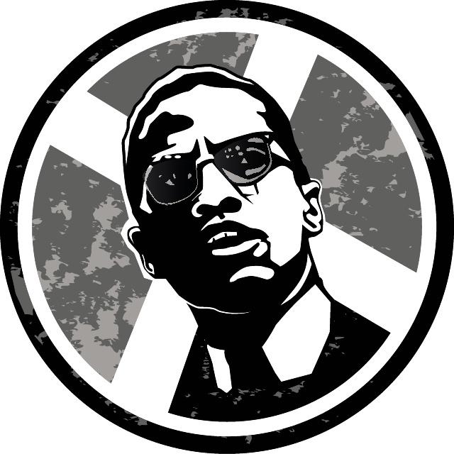 Malcolm X Illustration Free Vector.