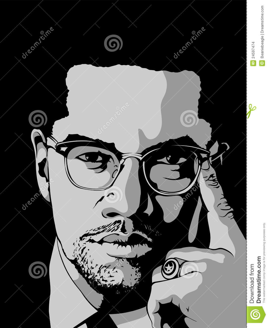 Malcolm X Editorial Stock Image.