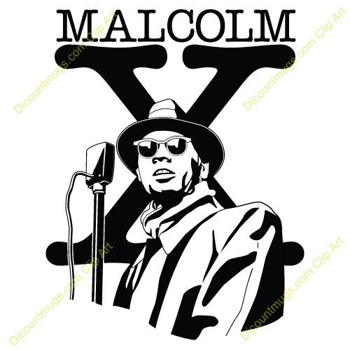 Malcolm x clip art.