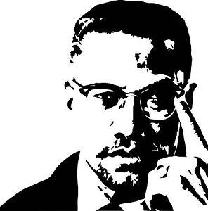 Malcolm X vinyl decal sticker for car/truck laptop window custom.