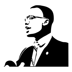 Malcolm X clipart, cliparts of Malcolm X free download (wmf, eps.
