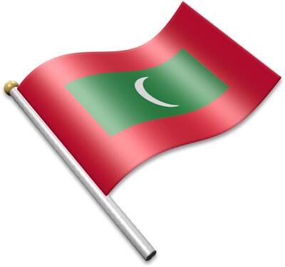 Flag Icons of Maldives.