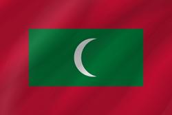 The Maldives flag clipart.