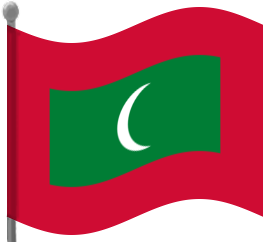 maldives flag waving.